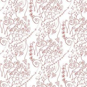 Tiny Floral Swirls