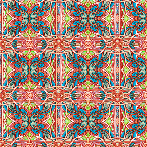 Paisley Flower Squares  fabric by edsel2084 on Spoonflower - custom fabric