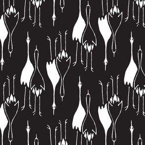 Cranes - black/white