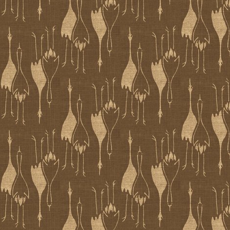Cranes - taupe/beige fabric by materialsgirl on Spoonflower - custom fabric