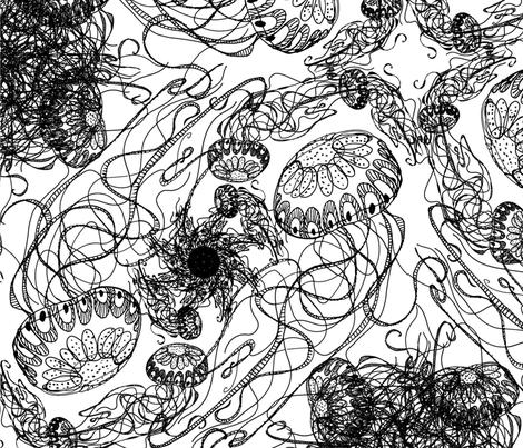Jellyfish  fabric by fefifo on Spoonflower - custom fabric