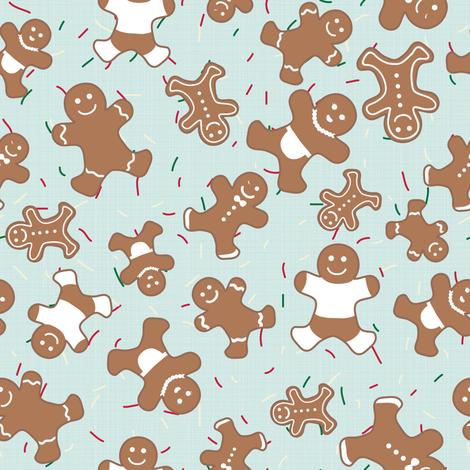 Gingerbread cookies fabric by seabluestudio on Spoonflower - custom fabric