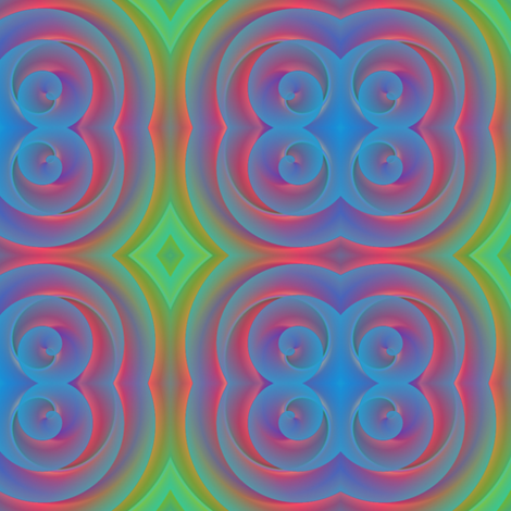 blue spirals fabric by y-knot_designs on Spoonflower - custom fabric
