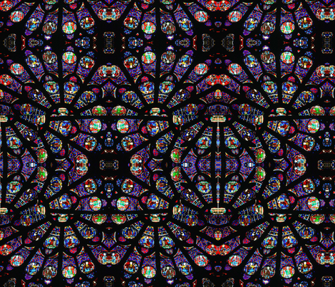 Notre Dame rose window fragments fabric by eve_s on Spoonflower - custom fabric