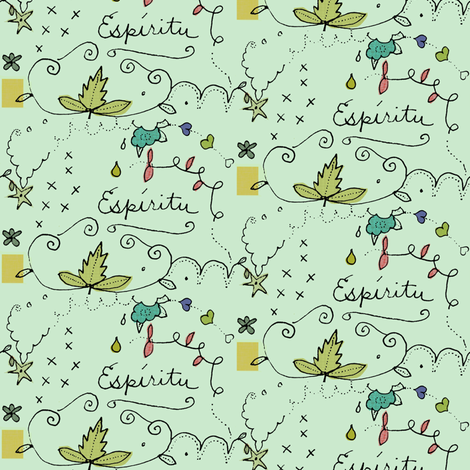 Espiritu (Green) fabric by boris_thumbkin on Spoonflower - custom fabric