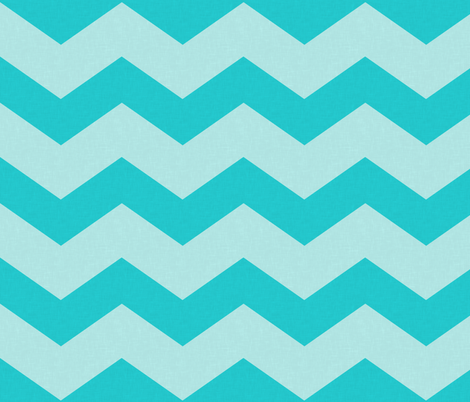 Wide Turquoise Blue Chevron Fabric Curious Nook