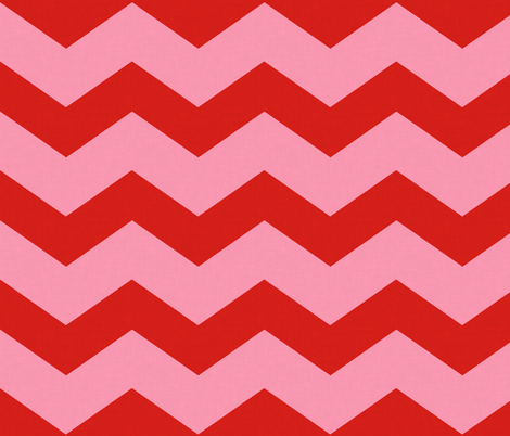 Wide Red & Pink Chevron  fabric by curious_nook on Spoonflower - custom fabric