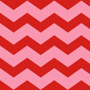 Wide Red & Pink Chevron