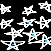 A Cluster of Blue Dot Stars