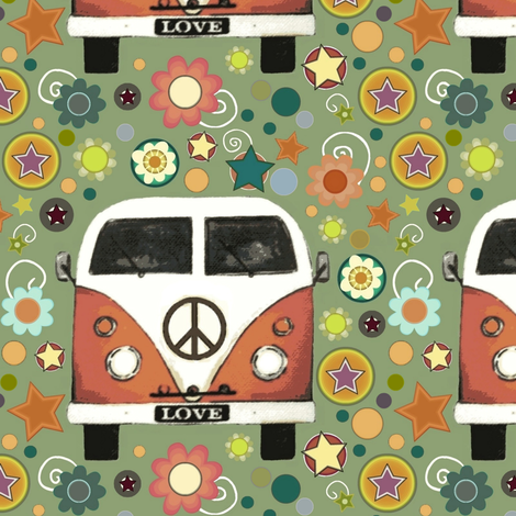 peace camper large fabric by scrummy on Spoonflower - custom fabric