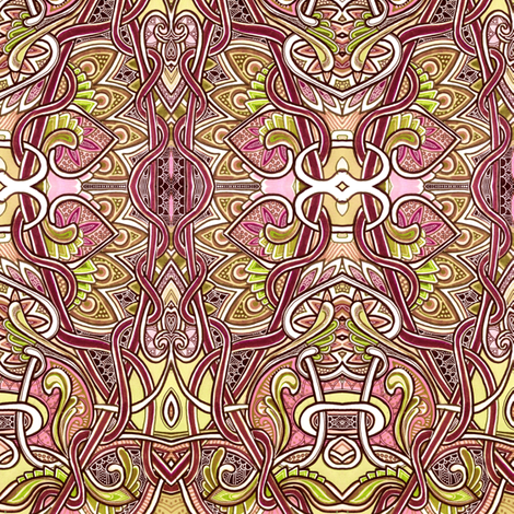 Tangled Trellis fabric by edsel2084 on Spoonflower - custom fabric