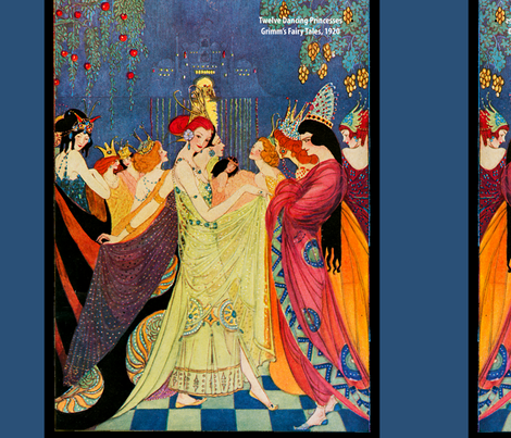 The Twelve Dancing Princesses fabric by craftyscientists on Spoonflower - custom fabric