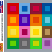 Rainbow Free Motion Quilting Cheater Cloth
