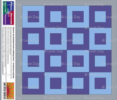 Blue / Purple Free Motion Practice Fabric