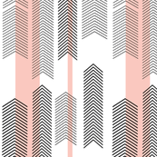 chevron stripe in pink