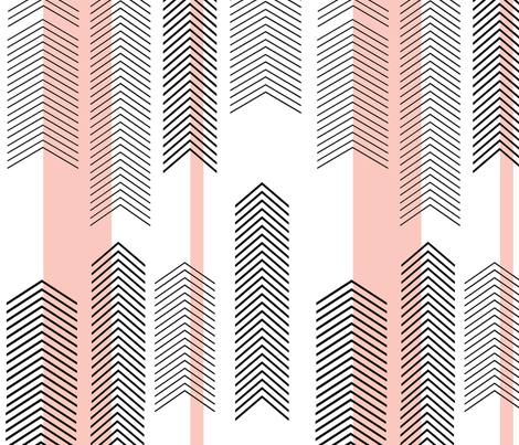 chevron stripe in pink fabric by cristinapires on Spoonflower - custom fabric