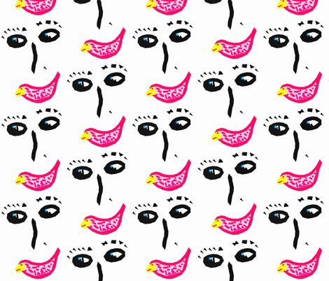 She sings like a bird! fabric by anniedeb on Spoonflower - custom fabric