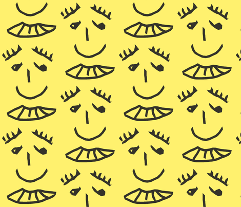 He has the kindest eyes. fabric by anniedeb on Spoonflower - custom fabric