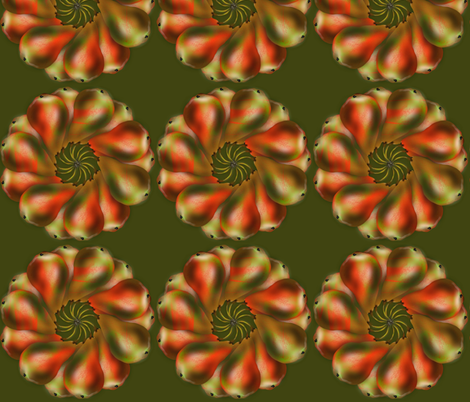 holiday pears fabric by boneyfied on Spoonflower - custom fabric
