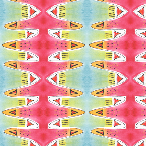 SW Triangles fabric by whimsikate on Spoonflower - custom fabric
