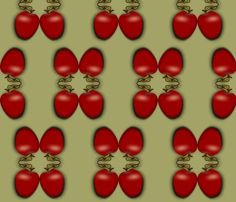 apples fabric by boneyfied on Spoonflower - custom fabric