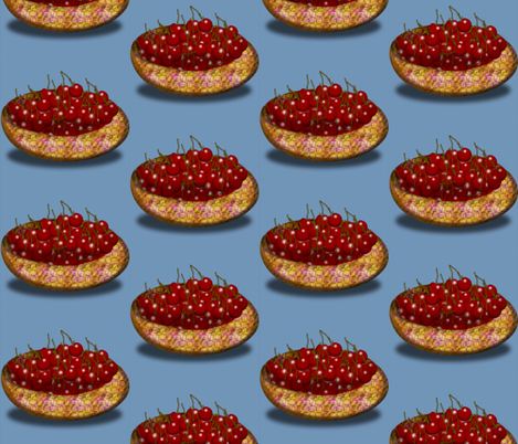 bowl of cherries fabric by boneyfied on Spoonflower - custom fabric