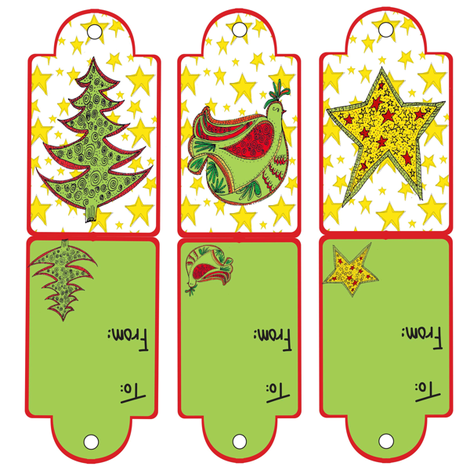 Happy_Holiday_tags fabric by collage on Spoonflower - custom fabric