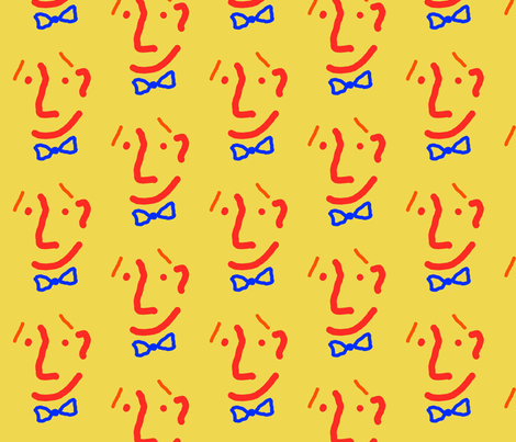 Bow Tie Man fabric by anniedeb on Spoonflower - custom fabric