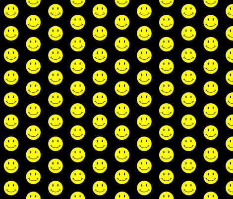basic-smiley-black fabric by gimpworks on Spoonflower - custom fabric
