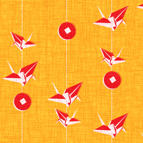 Peace Cranes fabric by thecalvarium on Spoonflower - custom fabric