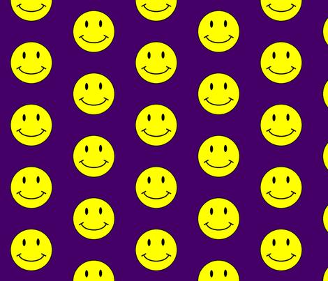 basic-smiley-dk-purple-big fabric by gimpworks on Spoonflower - custom fabric