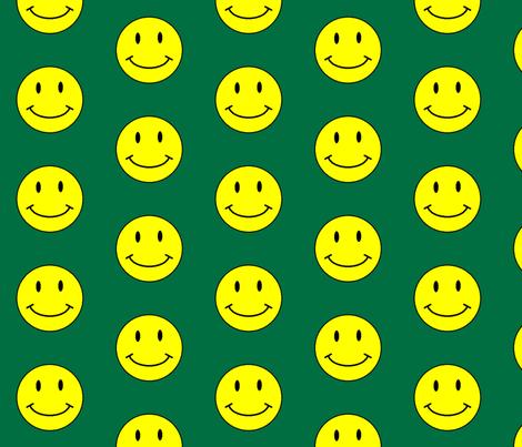 basic-smiley-hunter-green-big fabric by gimpworks on Spoonflower - custom fabric
