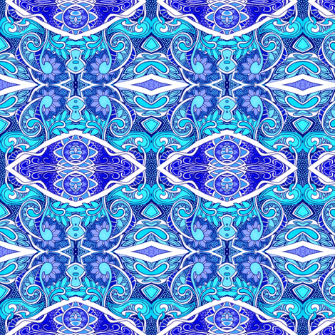 A World of Blues fabric by edsel2084 on Spoonflower - custom fabric