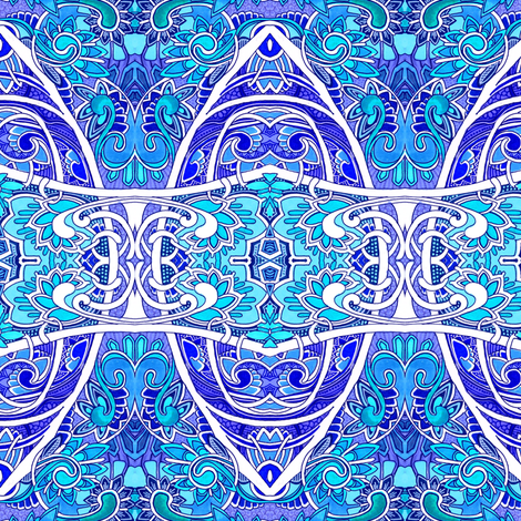 Big Blue Romance Victorian Style  fabric by edsel2084 on Spoonflower - custom fabric