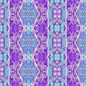Ye Olde Blue and Lavender Feminine Victorian Vertical Stripe