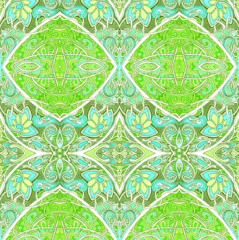Pandora, Don't Open That Bulging Green Box fabric by edsel2084 on Spoonflower - custom fabric