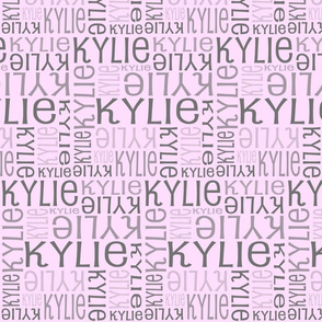 Personalised Fabric - Grey on Lt Pink
