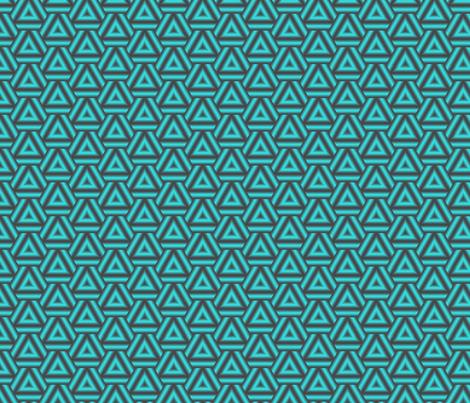 Turquoise Triangles fabric by mihaela_zaharia on Spoonflower - custom fabric