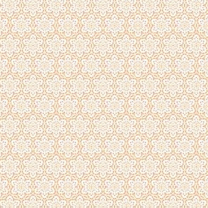 Snowflake Lace -peach1 and white