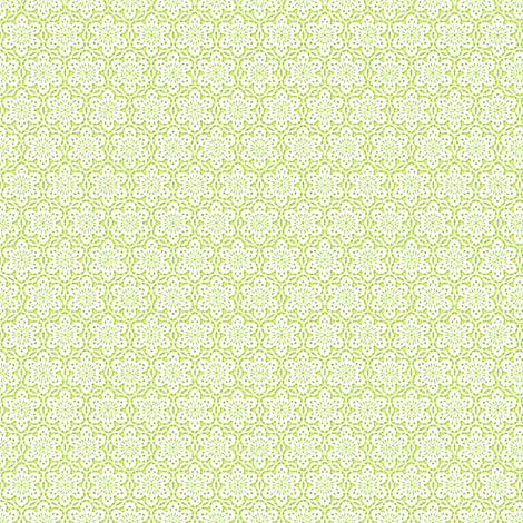 Snowflake_Lace_-lime3 fabric by fireflower on Spoonflower - custom fabric