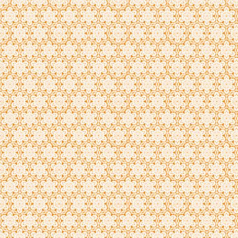 Snowflake_Lace_-orange1 fabric by fireflower on Spoonflower - custom fabric