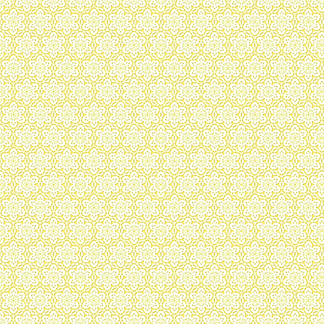 Snowflake_Lace_-yellow1 fabric by fireflower on Spoonflower - custom fabric