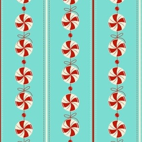 Peppermint Candy Garland Strings ~ icy