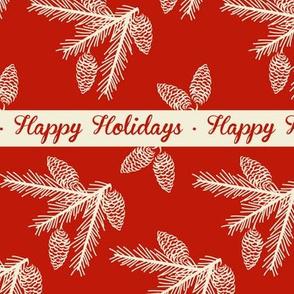 Pine sprays ~ Happy Holidays