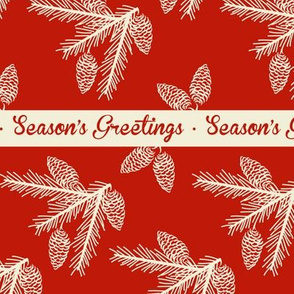 Pine sprays ~ Season's Greetings