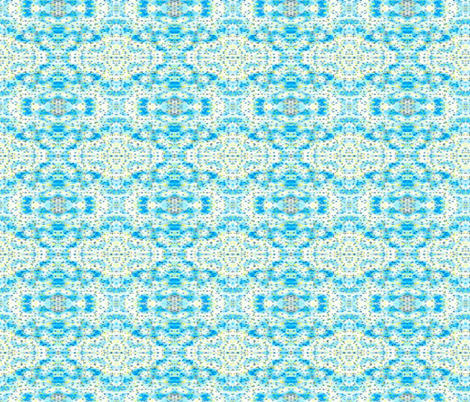 Pepper and Mustard on Blue and White fabric by anniedeb on Spoonflower - custom fabric