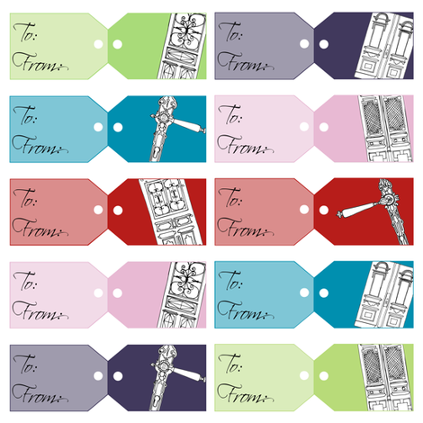 gift tags fabric by karinka on Spoonflower - custom fabric
