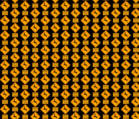 Deer Crossing fabric by robin_rice on Spoonflower - custom fabric
