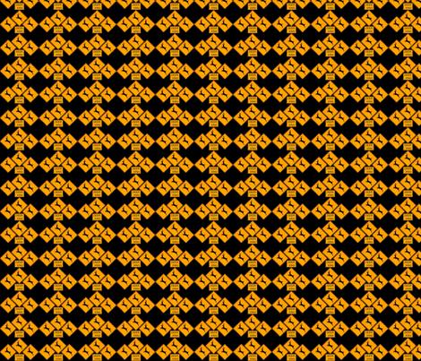 Deer Crossing and Crossing and Crossing fabric by robin_rice on Spoonflower - custom fabric