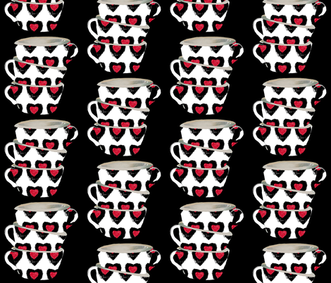 Cups of Love Decal fabric by karenharveycox on Spoonflower - custom fabric